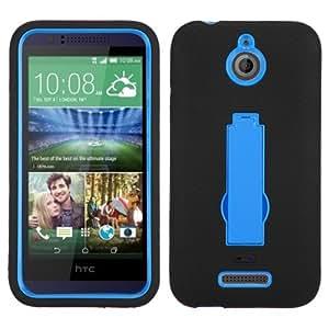 Dark Blue/Black Symbiosis Stand Case Cover For HTC 510(Desire 510) ASMYNA