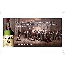 Jameson Whiskey: Legendary Tales of John Jameson, 3 Metal Plate Tin Sign Poster Wall Decor (20*30cm) By Jake Box