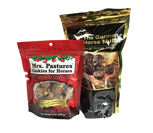 Mrs Pastures Horse Cookies - Equus Magnificus The German Horse Muffin and Mrs. Pastures Cookies for Horses Pack for Horse Owners