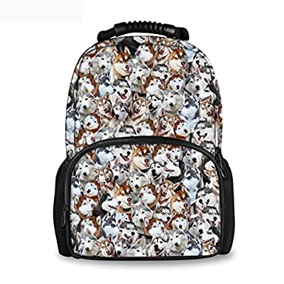 50%OFF Coloranimal Cute Cat Dog Puzzle Women Backpack Children School Teens Girls Bookbags