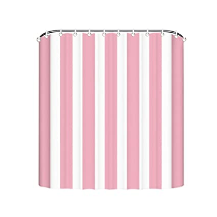 Image Unavailable Not Available For Color Cute Pink And White Striped Shower Curtain