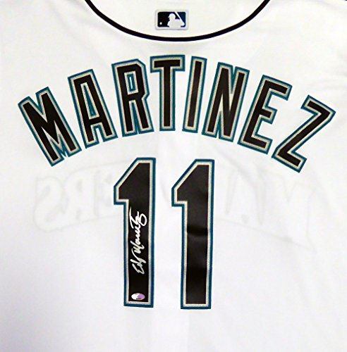 Seattle Mariners Edgar Martinez Autographed White Majestic Cool Base Jersey Size XL MCS Holo Stock #113673