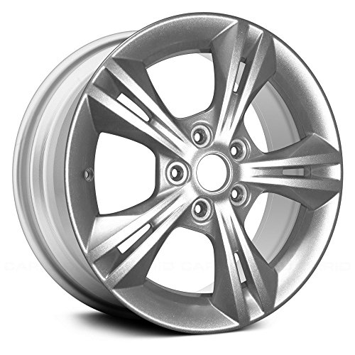 (Value Replica 5 Double Spokes Sparkle Silver Metallic Full Face Factory Alloy Wheel OE Quality Replacement )