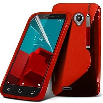 Vodafone Smart Prime 7 S-Line Wave Gel Case Carcasa (Red ...