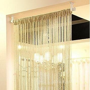 High Quality Eve Split Decorative Door String Curtain Wall Panel Fringe Window Room  Divider Blind Divider Crystal Tassel