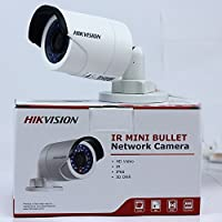 Hikvision DS-2CD2042WD-I, 4MP IR Mini Bullet Network Security Camera POE Day Night Vision IP67 Waterproof HD Home Surveillance CCTV camera, English Version, 4mm Lens