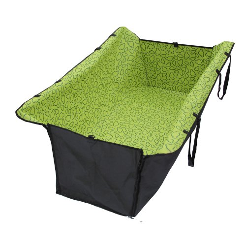 Fuloon Thicken Waterproof Easy Wash Car Back Seat Safe Pet Travel Hammock (GREEN)