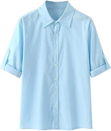 Hombre Cuello En V Camisetas Manga Larga Botón En Slim para Camisa Ocio Color Sólido La Moda Blusa Superior Retro Henley Camisas 3 Colores M-3XL: Amazon.es: Ropa y accesorios