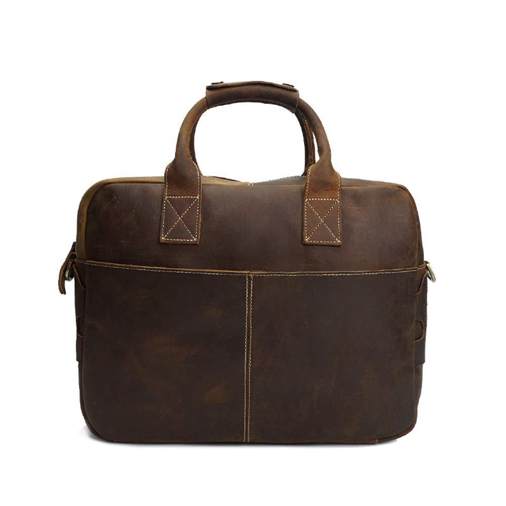 DQMSB Retro Shoulder Bag Mens Bags Tide Leather Computer Bag Mens Handbag Mens Briefcase Messenger Bag