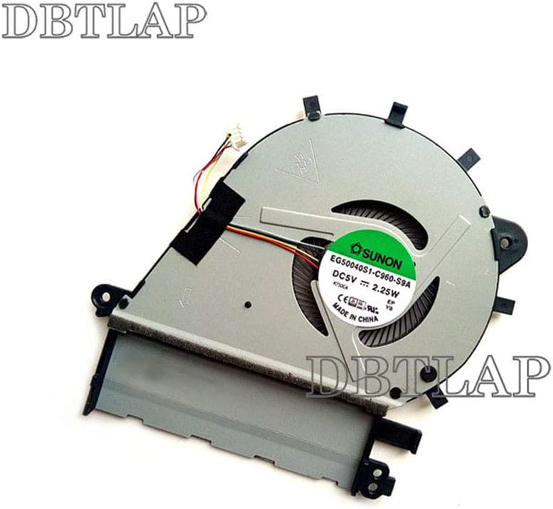 DBTLAP Laptop CPU Cooling Fan Compatible for Asus ZenBook UX430 UX43 Series EG50040S1-C960-S9A 4pins