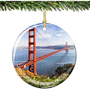 Amazon.com: San Francisco Golden Gate Bridge Christmas Ornament ...
