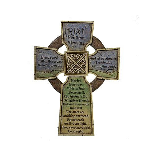 Irish Blessing Cross (Irish Bedtime Blessing Cross)