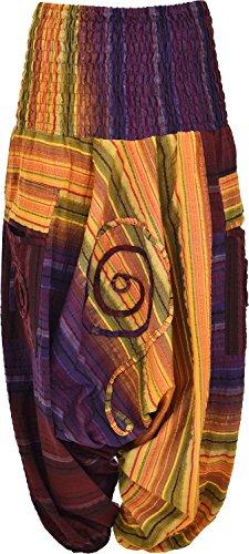 Pantalones harén, estilo Aladdin con diseño colorido Design-2