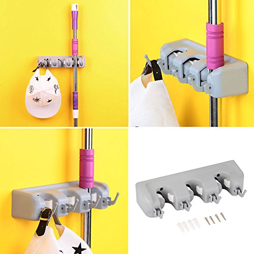 Agordo Plastic Swob Holder Rack Bathing Towel Home House Supplies Toilet Hooks Hanging