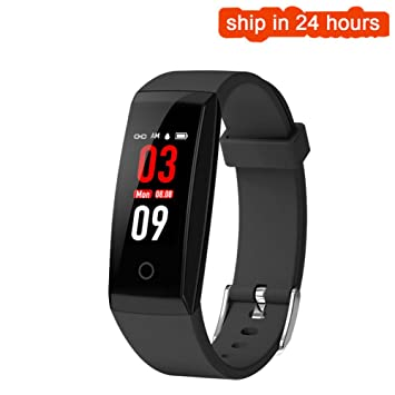 GONGYUAN Pulsera Inteligente Ritmo Cardíaco Metro Paso Bluetooth Deportes IP67 Profundidad Impermeable Gimnasio Rastreador,Black: Amazon.es: Deportes y aire ...
