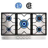 Best Gas Cooktops - Gas Cooktop, Gasland chef GH90SF 36'' Built-in Gas Review