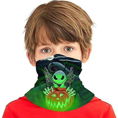 Multifunctional Headbands Nightmare Before Christmas Kids Neck Face Cover Running Neck Gaiter Bandana Scar