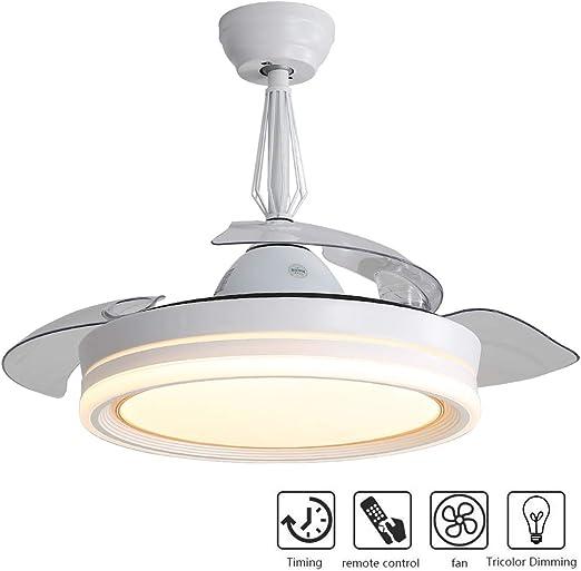 OYIPRO Moderno Ventilador de techo con Lámpara LED Regulable ...