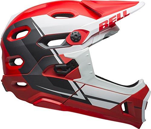 Bell Super DH MIPS Adult MTB Bike Helmet (Matte Red/White/Black Recourse (2018), Medium)