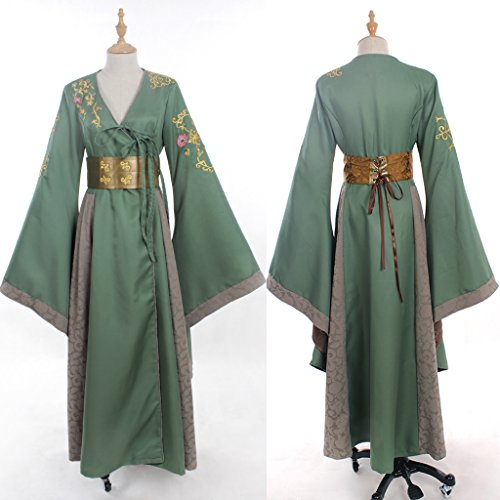 [CosplayDiy Women's Dress Costume for Game of Thrones Cersei Lannister Green S] (S Costume Ideas For Women)