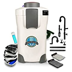 The CF400-UV has become a very popular canister filter for the price and performance. The 370GPH, 3+1 filtration system is ideal for fresh and saltwater aquariums ranging in size from 75 gallons to 125 gallons. The integrated 9 watt UV steril...