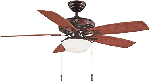 Indoor//Outdoor Natural Iron Ceiling Fan Parts Hampton Bay Gazebo II 52 in
