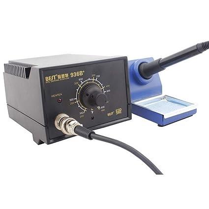 herramientas manuales, Mejor bst-936b + AC 220V estacion de soldadura termostático anti -
