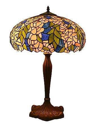 &g & g & lámparas de mesa-Tiffany-de-varios focos de cristal ...