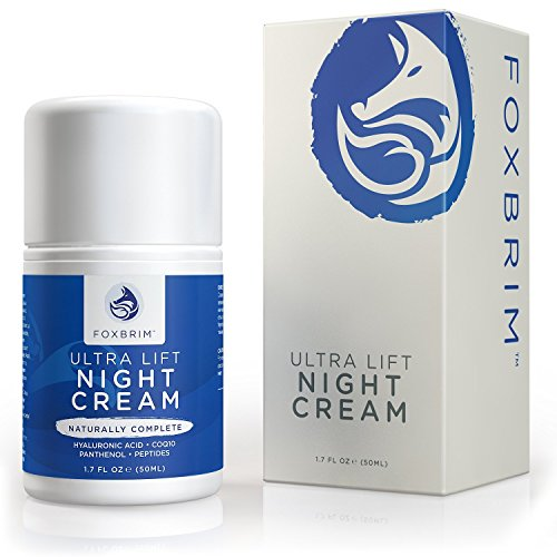 Face Skin Lift Skin Face Lifting (Foxbrim Anti Aging Face Cream - Ultra Lifting Night Cream - With Skin Smoothing Anti Wrinkle Natural & Organic Ingredients - CoQ10, Panthenol, Peptides, Hyaluronic Acid & More - 1.7OZ)