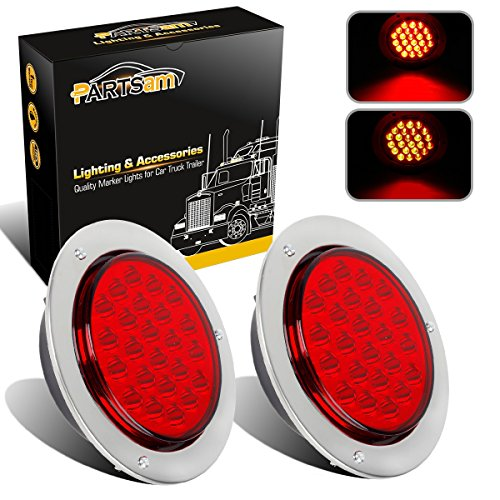 Partsam 2pcs 24-LED Red 4