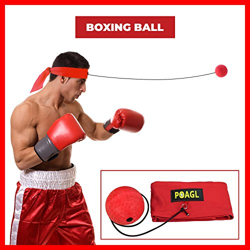 Speed Wraps (Reflex Boxing Ball on String with Headband for Fight MMA Training Speed Adult/Kids Gift Improve Punch Focus Sport Exercise Practice Fitness Trainer Elastic Head Band Set Cap Hat Puncher by POAGL)