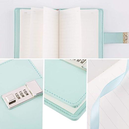 VQEWZ Cuaderno Agenda Con Candado Cuaderno Mini A7 ...