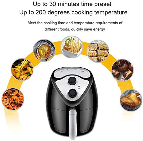 Air Fryer, Oil Free Gezonde Fryer Family-Size Capaciteit oven met Rapid Air Circulation System for Healthy Oil Free of Low Fat Cooking