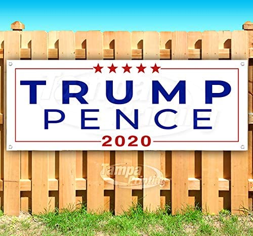 Small Businesses for Trump 2020 13 oz Heavy Duty Vinyl Banner Sign with Metal Grommets Store New Advertising Flag, Many Sizes Available