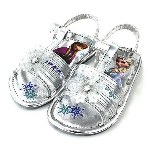 Frozen Elsa Silver Snowflake Sandals Shoes