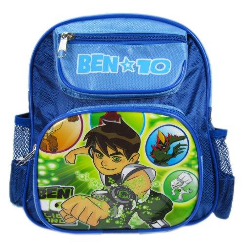 Cartoon Network Mini Size Blue Fist Ben 10 Backpack - Ben 10 Kids Bookbag (Ben 10 Protector Of Earth Psp Game)