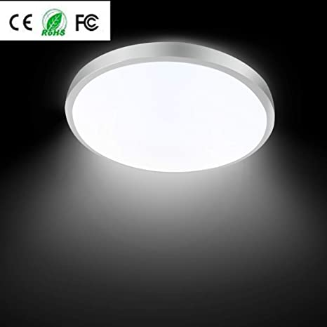 4a827b5096 12W 12-Inch LED Round Ceiling Lights 6500K Daylight White LED Flush Mount Ceiling  Light for Kitchen Dining Living Room 3030LY - - Amazon.com