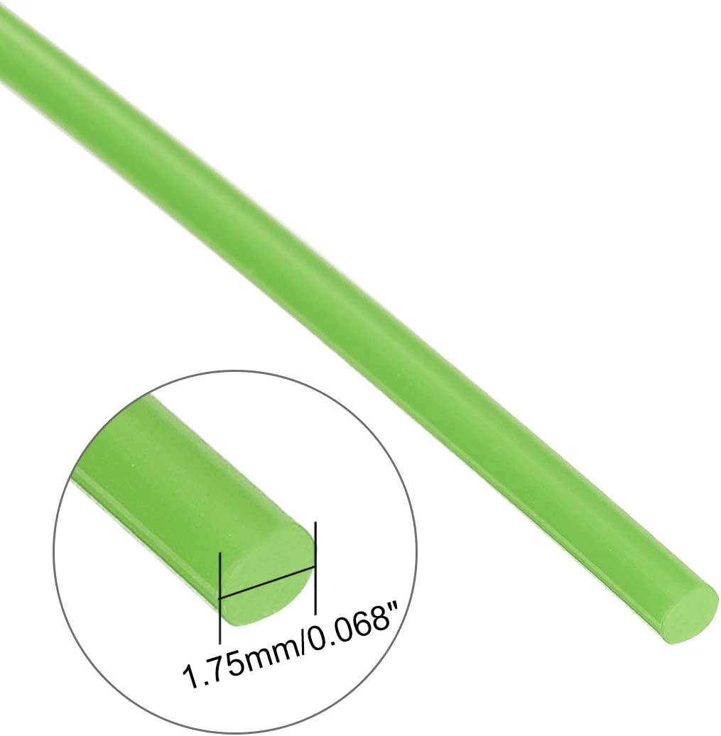 32.8Ft Length 1.75 mm Dia uxcell 3D Printer Pen Filament Refills Dimensional Accuracy +//- 0.02mm PLA for 3D Painting and Drawing,Green