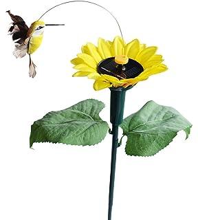 solar wholesale fluttering hummingbird w sunflower solar garden yard stake