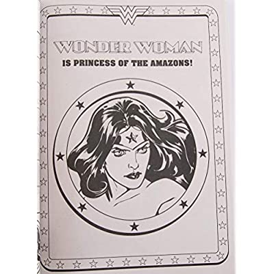 Bendon Publishing International Wonder Woman Coloring and Activity Book - 96 Pages: Toys & Games