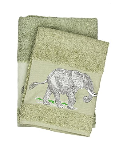 Large Premium Quality Embroidered Design Bath & Hand Towel S