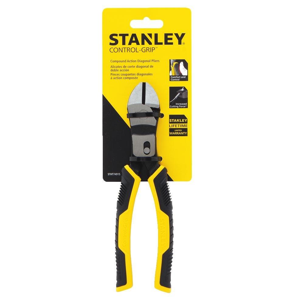 Stanley STHT74915 Control Grip Compound Action Diagonal Pliers ...