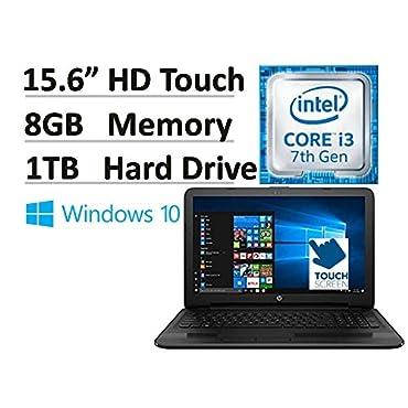 "HP Flagship 15.6"" 15-ay191ms HD Touchscreen Signature Edition Laptop - Intel Core i3-7100U 2.40 GHz, 8 GB DDR4 Memory, 1 TB HDD, DVD Burner (2017 Model)"