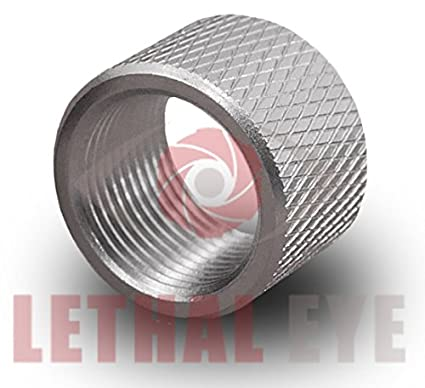 Lethal-Eye Glock Barrel Thread Protector 1/2x28 Stainless Steel for 9mm 357  Sig 11mm Length Fits Lone Wolf and Other Threaded Barrels ====