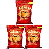 Salsitas Spicy Salsa Chips, 3oz Bags (Pack of 3, Total of 9 Oz)