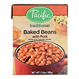 Pacific Natural Foods Baked Beans - Pork - Case of 12 - 13.6 oz.