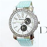BUYEONLINE Women's Fashion Classic Needle Diamond Casual Watch Blue
