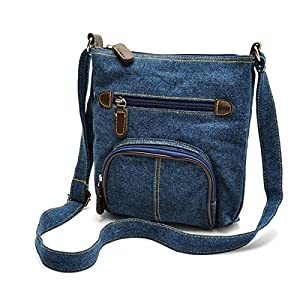 ZOONAI Women Multi Pocket Crossbody Shoulder Bag Small Organizer Purse Wallet