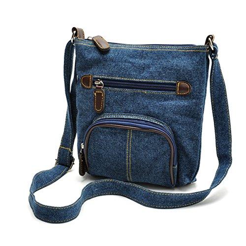 ZOONAI Women Multi Pocket Crossbody Shoulder Bag Small Organizer Purse Wallet ()