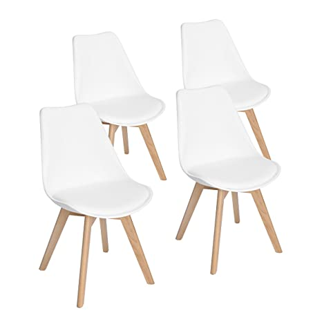 Cool Set Of 4 Modern Accent Side Dining Chair Kitchen Chairs Upholstered Lounge Chair With Soft Padded Seat Body Engineering Design For Reception Room Machost Co Dining Chair Design Ideas Machostcouk